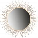 Metal mirror Pyro for hanging, D53cm, gold